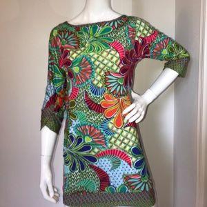 Trina Turk Zanzibar tunic/dress/cover up XS